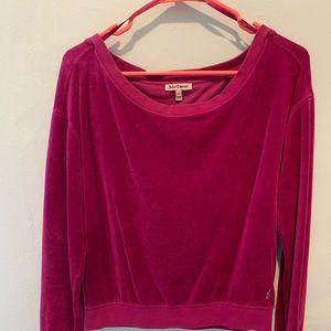 Juicy Couture off the shoulder velvet sweatshirt